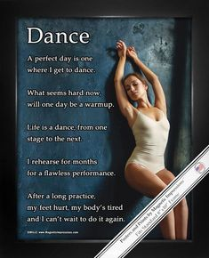 Buy Dance Leaning x Sport Poster Print and motivate your dancer! Inspirational dance quotes make this the best gift for dancers. Shop Dance Gifts for Girls and Boys today. Made in the USA. Find great pricing and fast shipping!
