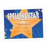 """Whether you're using this 11"""" x 8 1/2"""" full-color certificate in classrooms as weekly or monthly student awards or as a special way to honor your school-wide Spelling Bee champs, be sure you have enough certificates on hand to meet all your needs."""