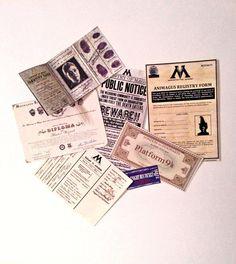 7 Piece Ministry of Magic issued by FandomoniumFantasies on Etsy, £8.99