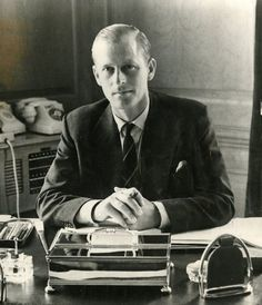 Prince Philip, 1951: The Duke of Edinburgh earned the rank Lieutenant-Commander of the frigate HMS Magpie in 1950, and later was appointed commander. At the age of 30, he was also father to two young children, Charles and Anne. His active military life was to end in 1952 with the death George VI and the ascension of Elizabeth to the throne.