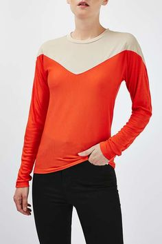 Illusion Long Sleeve Tee by Boutique - Boutique - Clothing