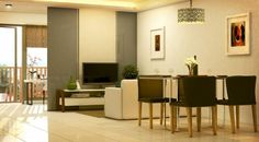 East Bay Residences - Rockwell Primaries Development Corporation Model House, East Bay, Condominium, Diana, Divider, Table, Room, Furniture, Home Decor