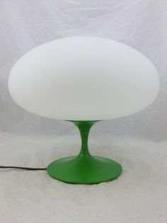 Vintage Mid Century Modern Mushroom Lamp Green Laurel Lamp Mfg Co Green |  EBay