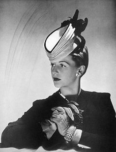 Concertina hat, 1941. #vintage #1940s #hats #fashion by vicky