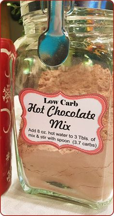 Low Carb Hot Chocolate Mix ~ Baking Outside the Box