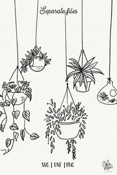 Indoor hanging plants svg bundle cut files botanical etsy doodle art the oxygen bomb place these wherever you want to clear toxins and negative energy from the air in your home Easy Doodle Art, Doodle Art Drawing, Plant Drawing, Drawing Ideas, Cute Easy Doodles, Doodle Art Designs, Happy Doodles, Simple Designs To Draw, Doodling Art