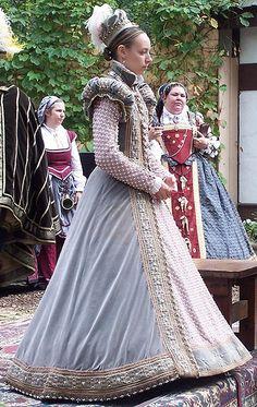 Elizabethan pink gown.