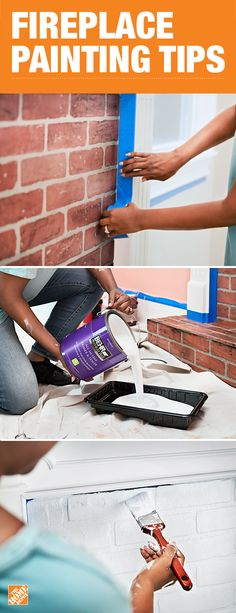 Try repainting your brick fireplace to add a bright focal point to the living room in your home. With the right tools and know how, it's easier than you think. Click-through to learn more on The Home Depot blog.