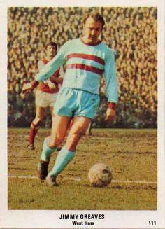 Jimmy Greaves of West Ham in British Football, Retro Football, Jimmy Greaves, Laws Of The Game, Association Football, Most Popular Sports, Soccer Stars, West Ham, World Star