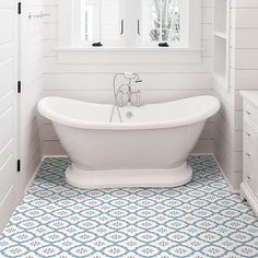 Bathroom Vinyl, Bathroom Floor Tiles, Vinyl Flooring Bathroom, Bathroom Ideas, Bathroom Inspiration, Stick On Tiles Bathroom, Hallway Flooring, Master Bathroom, Family Bathroom