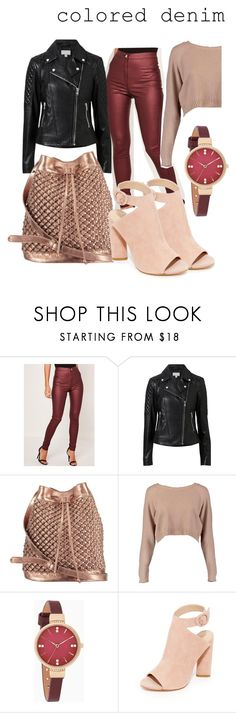 """""""colored denim"""" by elen25 ❤ liked on Polyvore featuring Missguided, Witchery, nooki design, Boohoo and Kendall + Kylie"""