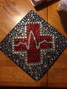 Nursing school graduation cap.... Wave looks a little funny but it will work ;)