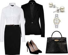 Very nice and crisp! You can't go wrong if you wear this outfit on a professional interview.  Comment by Bridget C Lewis - WLS ******************************************************************** Interview attire for an executive, finance, or legal interview.
