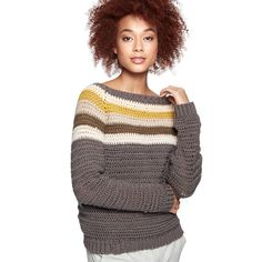 Yarnspirations is the spot to find countless free easy crochet patterns, including the Caron x Pantone Crochet Colorwork Raglan Sweater, XS/S. Crochet Pullover Pattern, Crochet Cardigan, Crochet Sweaters, Crochet Patterns, Crochet Jumpers, Cardigan Pattern, Easy Crochet, Free Crochet, Knit Crochet