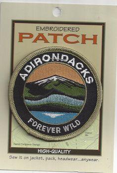 Souvenir Patch Adirondack Mountains Adirondacks NY Forever Wild   eBay