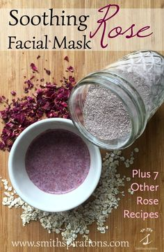 Soothing Rose Facial Mask Rose petals oats and rhassoul clay combine to make this wonderfully soothing and beautifully scented facial mask Seven other rose petal recipes. Rhassoul, Diy Masque, Beauty Hacks For Teens, Manicure E Pedicure, Homemade Face Masks, Peeling, Homemade Beauty Products, Diy Natural Beauty Recipes, Tips Belleza