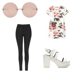 """""""Untitled #227"""" by deedee-07-love on Polyvore featuring Linda Farrow, Topshop, Monki and Soles"""