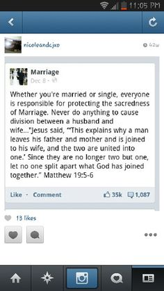 Facebook page with great marriage advice