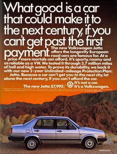 If only cars were still that cheap and came with unlimited mile warranties.