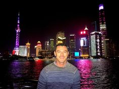 Luke Evans in Shanghai Wearing Missoni