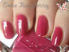 """blog - Sunny Monday / Essie nail polish in Raspberry (could be rasberry... may not be the same as Essie """"rasberry red"""")"""
