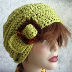 Crochet Slouch Hat Pattern With Slide Trim ♡ by kalliedesigns