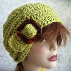 Descàrrega immediata ganxet Slouch Hat Model Amb Slide Retallar Mulita-Sized nadó Thru Adults