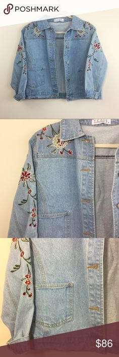 "‼️JUST IN 🆕 'Free Fallin' Jean Jacket New without tags. 'Free Fallin' jean jacket. Size Small Floral design Length: 20.5"" Underarm to underarm: 20"" Sleeve length: 20.5"" 100% Cotton Jackets & Coats Jean Jackets"