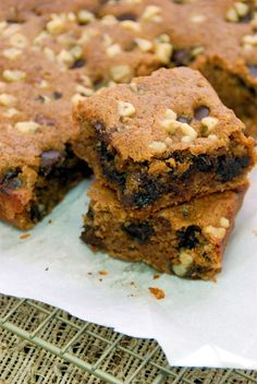 New To The Table White Bean Blondies  http://www.newtothetable.com/2014/05/white-bean-blondies.html