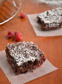 My taste buds are wanting to do the happy dance just thinking how lovely they would be ~ Raspberry Brownies