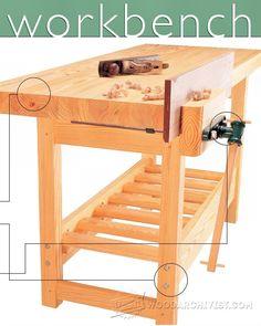 1542-Wood Workbench Plan