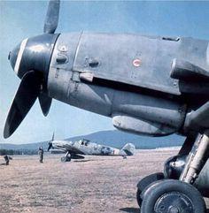 BF 109 G-6; (Puma század),  Lieutenant Daniel machine, Veszprém, airfield 1944…