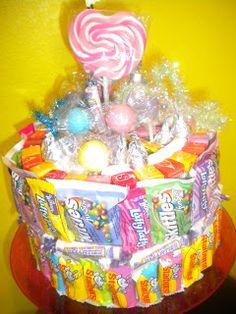Happy Birthday Jill candy cake