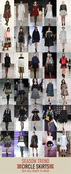 Circle Skirts Trend - 2014 Fall RTW Review Circle Skirts, 2014 Trends, My Style, Fall, Collection, Fashion, Autumn, Moda, Fashion Styles