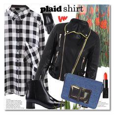 """""""plaid shirt"""" by svijetlana ❤ liked on Polyvore featuring Gucci, NARS Cosmetics, plaidshirt and zaful"""