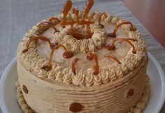 Tejszínes-fehér csokis karamelltorta Hungarian Cake, Hungarian Recipes, Cold Desserts, Sweets Recipes, Fall Crafts, Tiramisu, Food And Drink, Birthday Cake, Pie