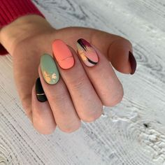 fall nail art designs you'll love 1 Dream Nails, Love Nails, Pretty Nails, Nail Manicure, Gel Nails, Nail Drawing, Funky Nails, Funky Nail Art, Trendy Nail Art