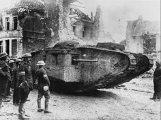 A tank called the Lusitania in France, on the British Front, during World War I, 1917 - pin by Paolo Marzioli