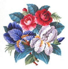 Knitting, crochet, embroidery, sewing and tons of inspiration for your next project. Needlepoint Stitches, Needlework, Cross Stitch Flowers, Cross Stitch Patterns, Cross Stitch Pillow, Buy Roses, English Roses, Rose Bouquet, Cross Stitching