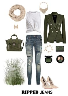 """""""Untitled #6908"""" by erinlindsay83 ❤ liked on Polyvore featuring Polo Ralph Lauren, VILA, Balmain, Sophia Webster, maurices, 3.1 Phillip Lim, Bebe, Irene Neuwirth, Tory Burch and NARS Cosmetics"""