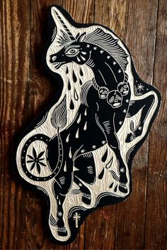 Ananas à Miami: Bryn Perrott Sara Fabel, Unicorn Tattoos, Stamp Carving, Wood Carving, 2d Art, Linocut Prints, Artist Art, Traditional Tattoo, Screen Printing