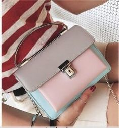Casual Stylish Woman With Gray Cute Color Blocked Bag- Front View Fashion Bags, Fashion Backpack, Womens Messenger Bag, Timeless Fashion, Satchel, Stylish, Casual, Cute, Gray
