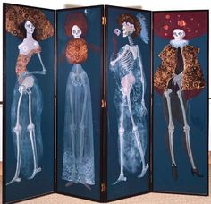 Les Quatre saisons by Leonor Fini, 1972 amazing! I would love this! too bad I don't have any room for it in my apartment :[ Art And Illustration, Max Ernst, Danse Macabre, Gothic House, Gothic Mansion, Skull And Bones, Memento Mori, Les Oeuvres, Creepy