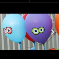 Monster party balloons