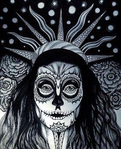 #art #arigart #illustration #instaartist #inkdrawing #indianink #instaink #ink #портрет #painting #picture #print #graphicart #graphic #blackandwhite #tattoo #portrait #drawing #sketch #графика #blackwhite #иллюстрация #halloween #чернобелое #рисунок #хэллоуин #искусство #topcreator #sugar_skull #череп