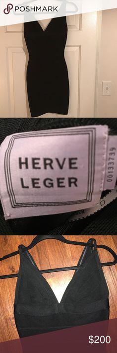 Herve Leger Bandage Dress Black Herve Dress. Wore once for a few hours. Herve Leger Dresses Mini