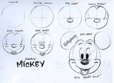 How to draw Mickey Mouse!!