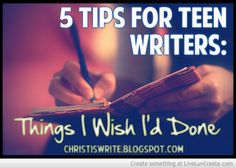Tips for #TeenWriters #WritingTips by YA author, Tessa Emily Hall