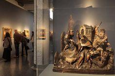 """Ausstellungsansicht """"Schrecken und Lust. Die Versuchung des heiligen Antonius von Hieronymus Bosch bis Max Ernst"""""""