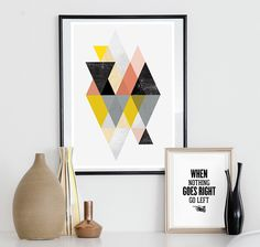 geometric print, abstract art, geometric art, scandinavian design, abstract poster